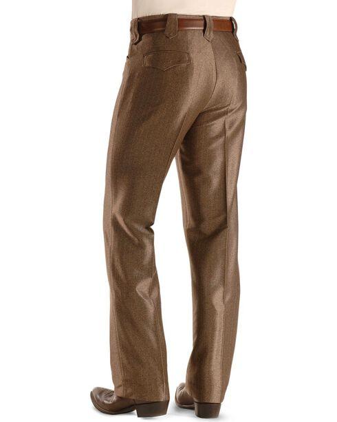 Circle S Men's Swedish Knit Dress Ranch Pants, Brown, hi-res