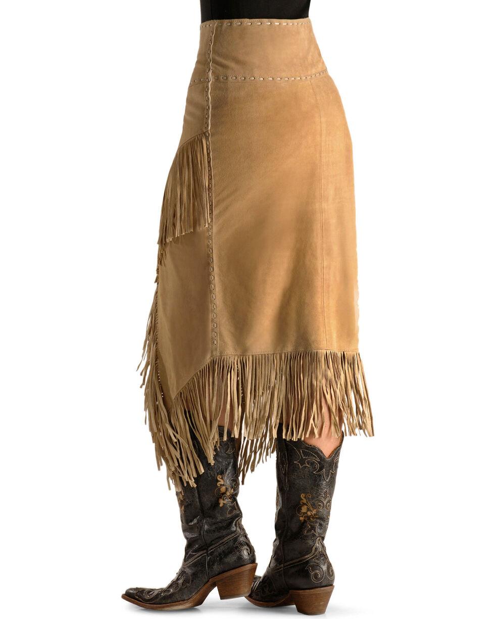 Scully Women's Fringe Skirt, Tan, hi-res
