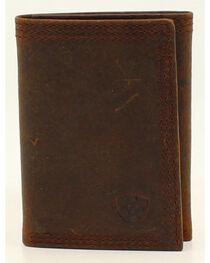 Ariat Basic Distressed Tri-Fold Wallet, , hi-res