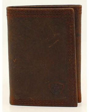 Ariat Basic Distressed Tri-Fold Wallet, Distressed, hi-res