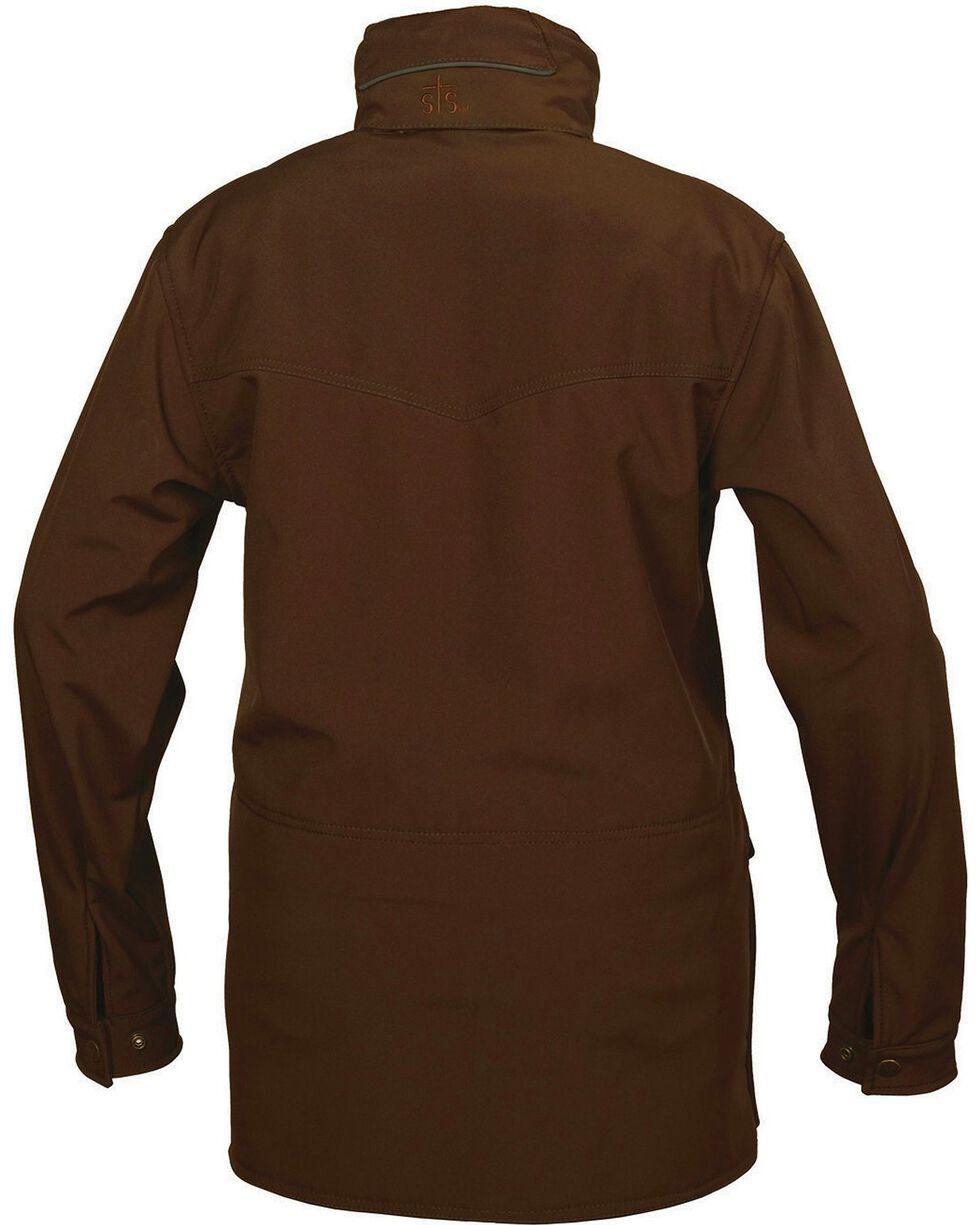 STS Ranchwear Women's Brazos Softshell Brown Barn Jacket, Brown, hi-res