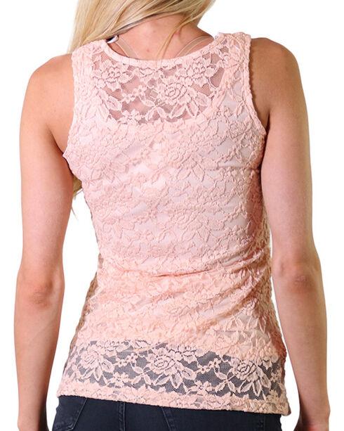 Jody of California Women's Lace-Up Tank, Light/pastel Pink, hi-res