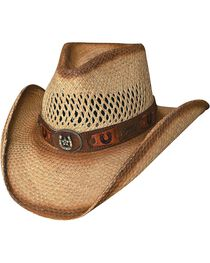 Bullhide Lucky Strike Panama Straw Cowgirl Hat, , hi-res