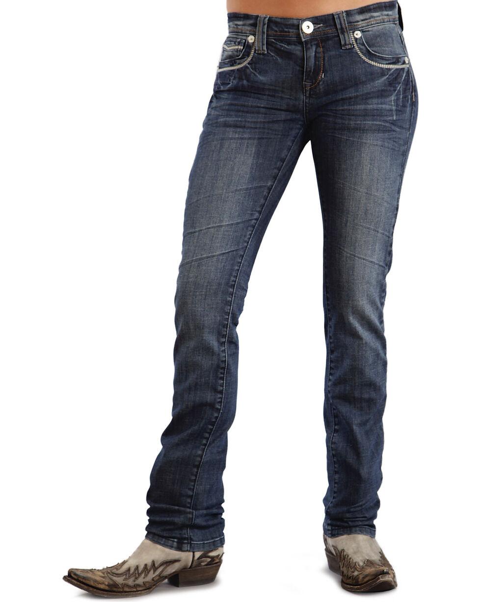 Stetson Women's Stovepipe Straight Leg Jeans, Denim, hi-res