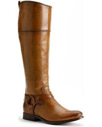 Frye Women's Melissa Harness Inside Zipper Riding Boots - Extended Calf, , hi-res