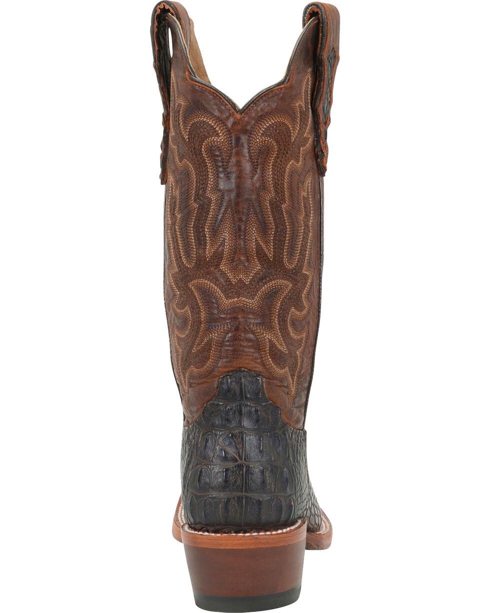 Double H Men's Cattle Baron Croc Print Western Boots, Brown, hi-res