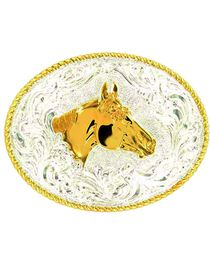 Crumrine Horse Head Buckle, , hi-res