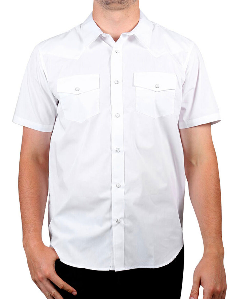 Gibson Men's Solid Short Sleeve Shirt, White, hi-res