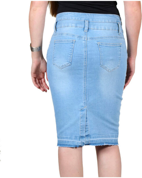 Boom Boom Jeans Women's Denim Skirt, Light Blue, hi-res