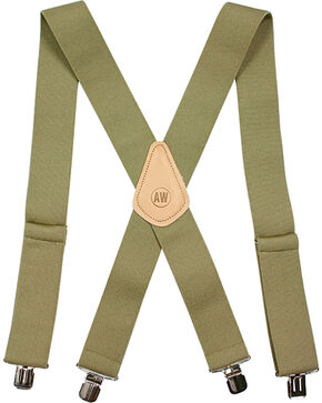 American Worker Men's Tan Suspenders, Tan, hi-res