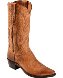 Lucchese Men's Lewis Snip Toe Mandras Goat Western Boots, , hi-res