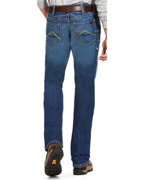 Ariat Men's FR M4 Stitched Incline Titanium Wash Jeans - Boot Cut, Charcoal, hi-res