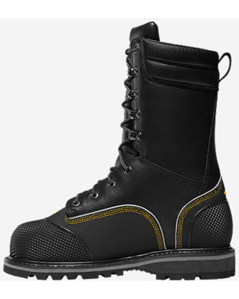 Lacrosse Men's Longwall II Safety Toe Met Guard Work Boots, Black, hi-res
