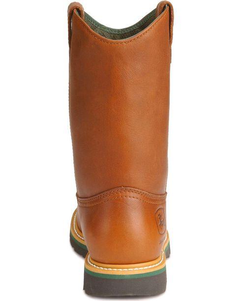 John Deere® Men's Steel Toe Wellington Work Boots, Walnut, hi-res