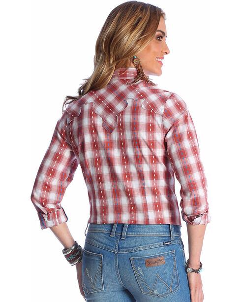 Wrangler Women's Copper Contrast Stitching Shirt , Rust Copper, hi-res