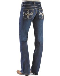 Wrangler Women's Booty Up Boot Cut Jeans, Denim, hi-res