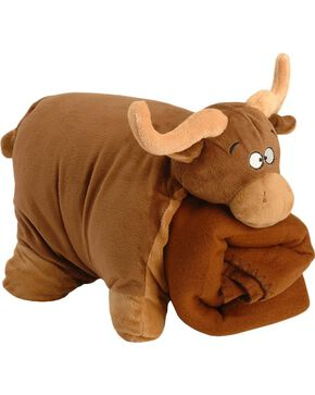 Brown Bull Blanket Buddy, Brown, hi-res