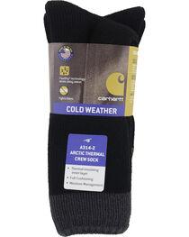 Carhartt Black Arctic Thermal Crew Socks - 2 Pack, , hi-res