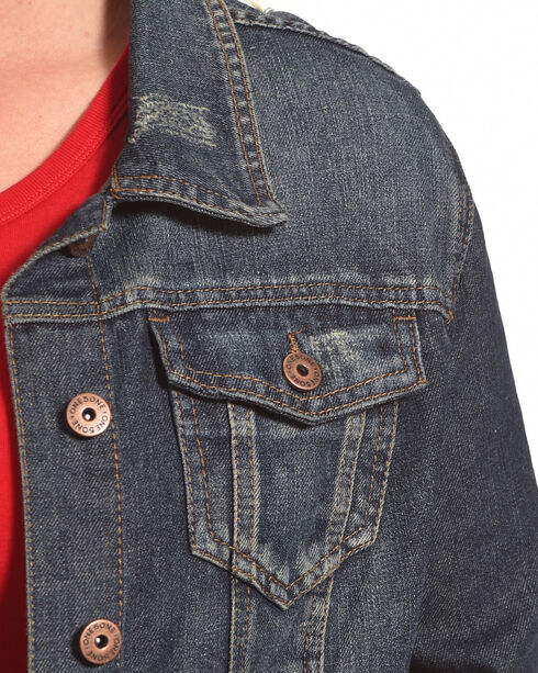 Boom Boom Jeans Women's Blue Vintage Denim Jacket - Plus Size , Blue, hi-res