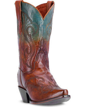 "Dan Post Women's Tan 11"" Manic Cowgirl Boots - Snip Toe , Tan, hi-res"