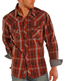 Rock & Roll Cowboy Men's Plaid Long Sleeve Shirt, , hi-res