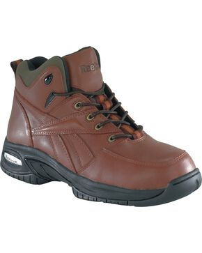Reebok Men's Tyak Hiking Work Boots - Composite Toe, Brown, hi-res