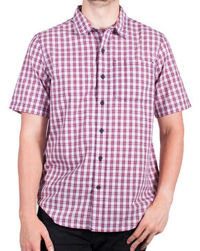 Timberland Pro Men's Plaid Short Sleeve Work Shirt , Red, hi-res