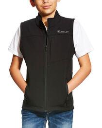 Ariat Boys' Black Vernon Soft Shell Vest , , hi-res