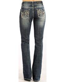 Rock & Roll Cowgirl Women's Indigo Zig Zag Jeans - Boot Cut , , hi-res