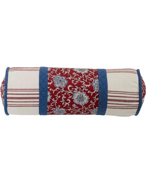 HiEnd Accents Bandera Floral Neckroll Pillow, Multi, hi-res