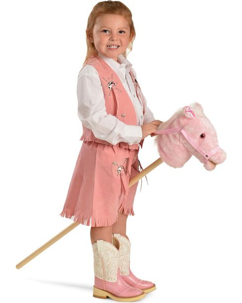 M&F Kid's Neighing Stick Horse, Pink, hi-res