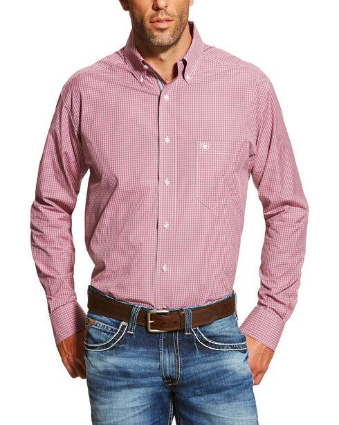 Ariat Men's Print Dakota Long Sleeve Shirt, Dark Pink, hi-res