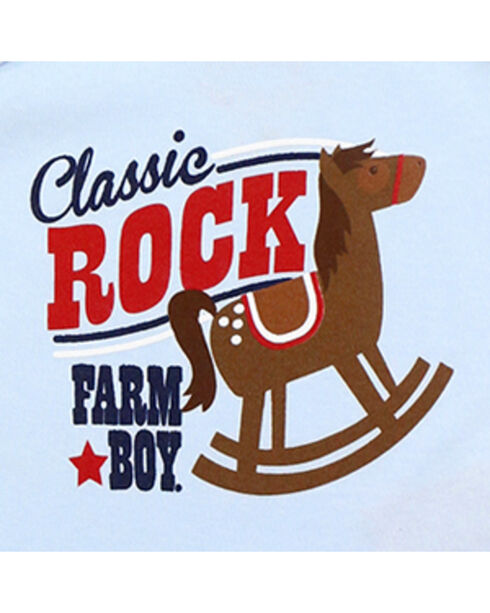 Farm Boy Infants' Classic Rock Short Sleeve Onesie, Blue, hi-res