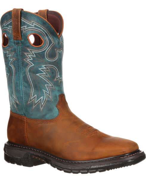 Rocky Original Ride Western Boots - Square Toe, Crazyhorse, hi-res
