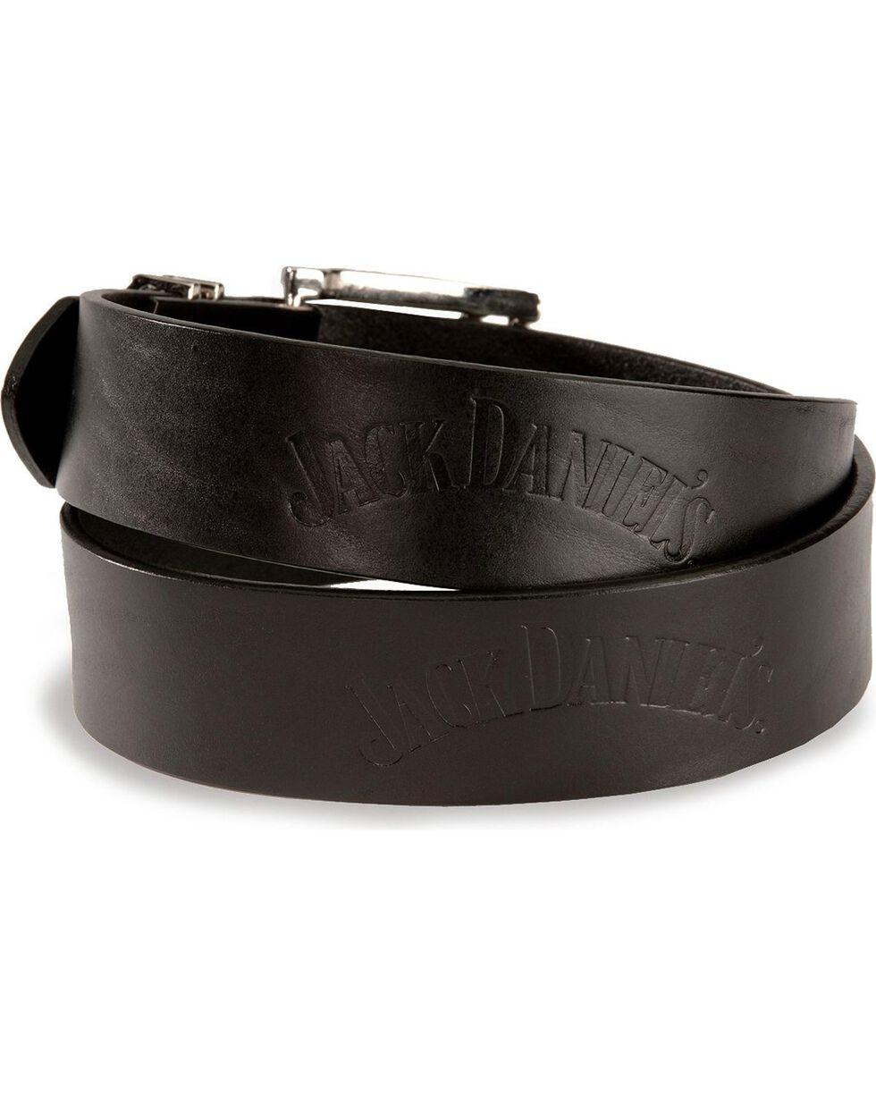 Jack Daniel's Men's Embossed Western Belt, Black, hi-res