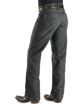Wrangler Retro Men's Relaxed Fit Boot Cut Jeans, Worn Black, hi-res