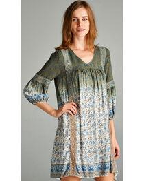Hyku Women's Ombre Floral Print Dress, , hi-res