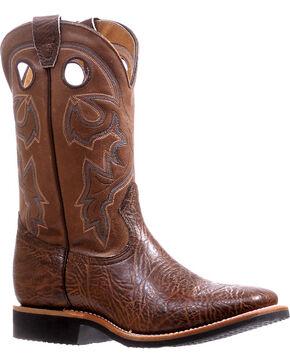 Boulet Brown Shoulder Extralight Cowboy Boots - Square Toe , Brown, hi-res