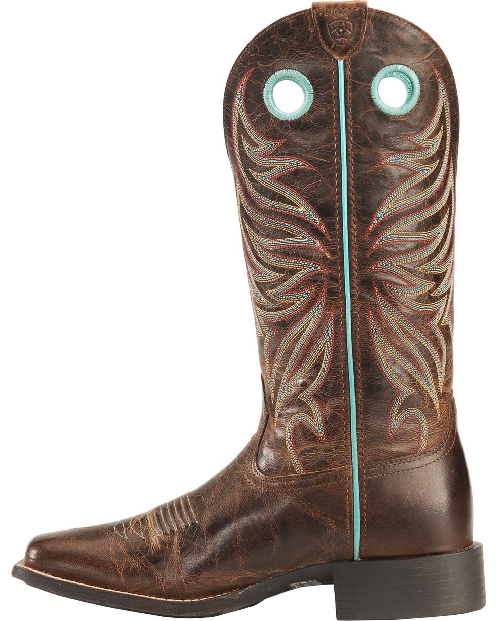 Ariat Women's Round Up Ryder Western Boots, Brown, hi-res