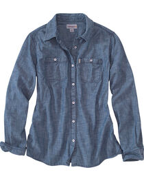 Carhartt Women's Milam Long Sleeve Chambray Shirt, , hi-res