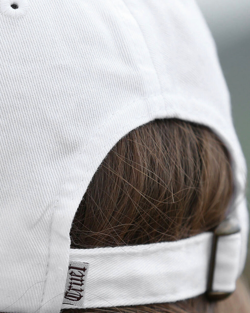 Cruel Girl Women's White Floral Patch Twill Cap , Cream, hi-res