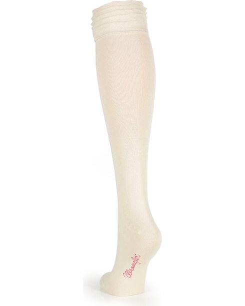 Wrangler Women's Ruffle Boot Socks, Natural, hi-res