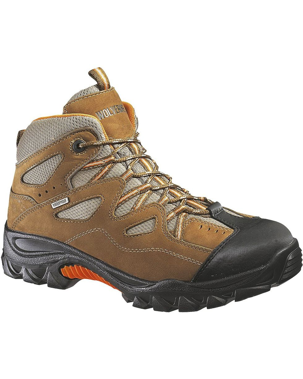 Wolverine Men's Durant Waterproof Steel Toe Work Boots, Light Brown, hi-res
