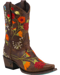 Lane Women's Flower Power Western Boots - Snip Toe, , hi-res