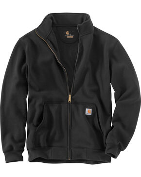 Carhartt Men's Haughton Mock Neck Zip Sweatshirt - Big and Tall, Black, hi-res
