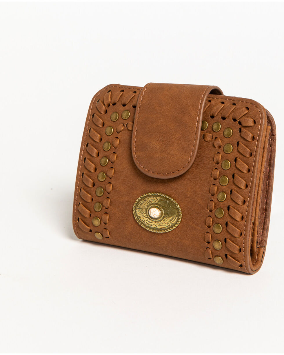 Shyanne® Women's Studded Snap Wallet , Brown, hi-res