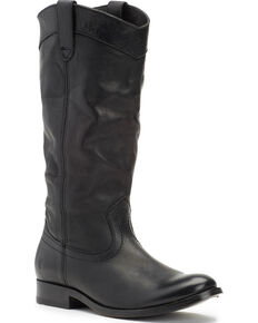 Frye boot barn frye womens black melissa pull on boots round toe black hi res gumiabroncs