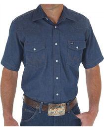 Wrangler Men's Cowboy Cut Rigid Work Shirt - Big and Tall , , hi-res