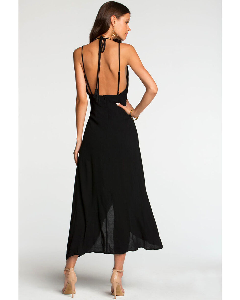 Miss Me Women's Black Strappy Hi-Lo Maxi Dress , , hi-res