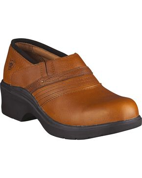 Ariat Women's Safety Clog Work Shoes, Tan, hi-res